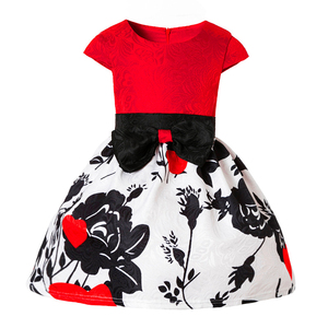 High end latest baby printed cotton frock design smart casual dress for girl kids
