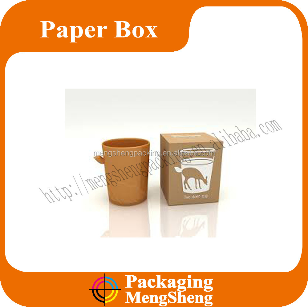 Wholesale brown/white paper box for cup custom high-quality coffee mug gift box