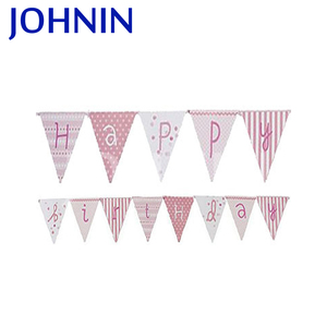 cheap promotion hot sell 68D polyester birthday flag lines new