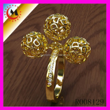 FASHIONABLE HOT SELLING ALIBABA YELLOW GOLD ENGAGEMENT RINGS FOR WOMEN
