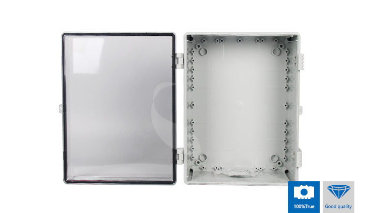 IP67 Waterproof Electronics box plastic casing with clear cover SP-PCT-504020	500*400*200 with tab for lockpad