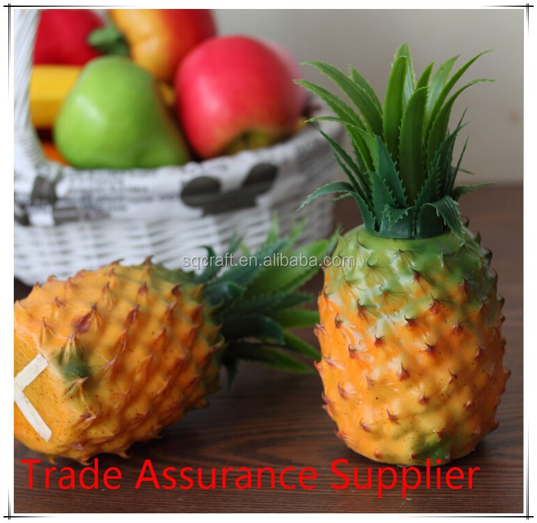 Artificial pineapple - Artificial Decorative Faux Fake Fruit pineapple