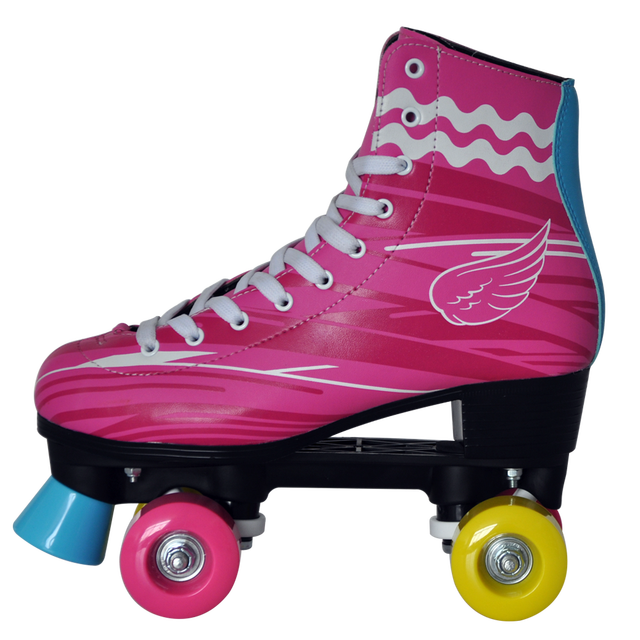 New hot sale fashionable kids women quad roller skates pinky soy luna