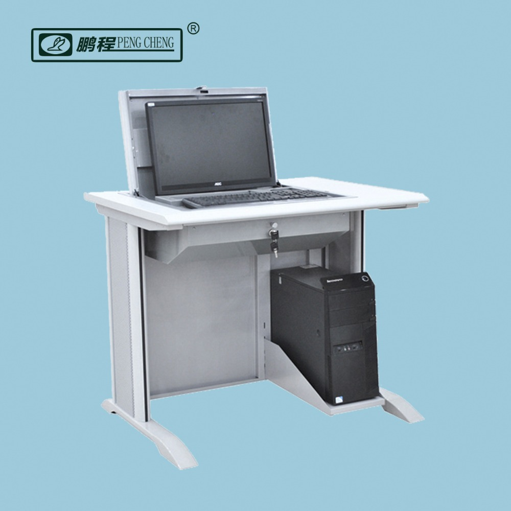 Melamine wood hidden LCD monitor school computer desk, View cheap
