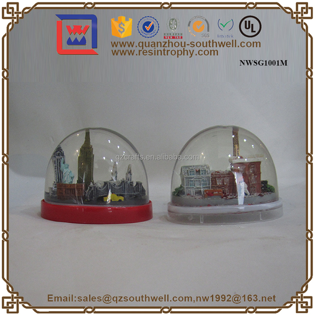 Crafts Gifts Resin Classic Scenery Water Balls Souvenir Gifts Snow Globe