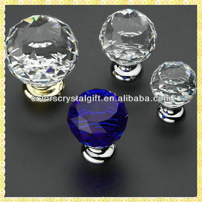 Cheap Crystal Glass Furniture Door Pullers For Cabinet Handles