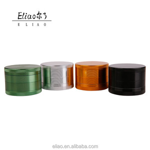 Erliao smoking shop 63mm metal 4parts aluminum custom herb grinder tobacco grinder