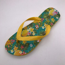 Women Women Decoration Flip Flops With PVC/Rubber Strap and PE/EVA Sole,Colors and Print Technique are Customization