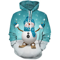 2018 Hot Sale Christmas Cartoon Character 3D Printed Sweater