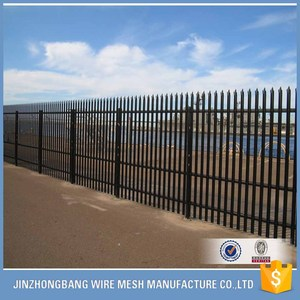 Powder coated galvanized steel euro palisade fence