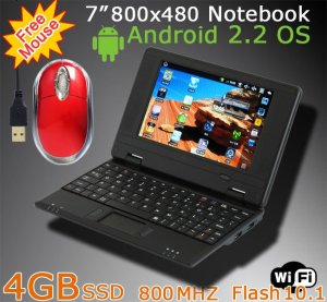 Mini 7 Inch 4GB SSD 800MHZ GOOGLE Android 2.2 Flash WiFi Netbook Notebook