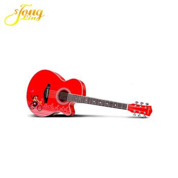 Satılık Tl 0041tongling Ince Kırmızı Boya Yarı Akustik Gitar40 Inç Buy Ince Kırmızı Boya Akustik Gitarsanatsal Akustik Gitargitar Için Satış