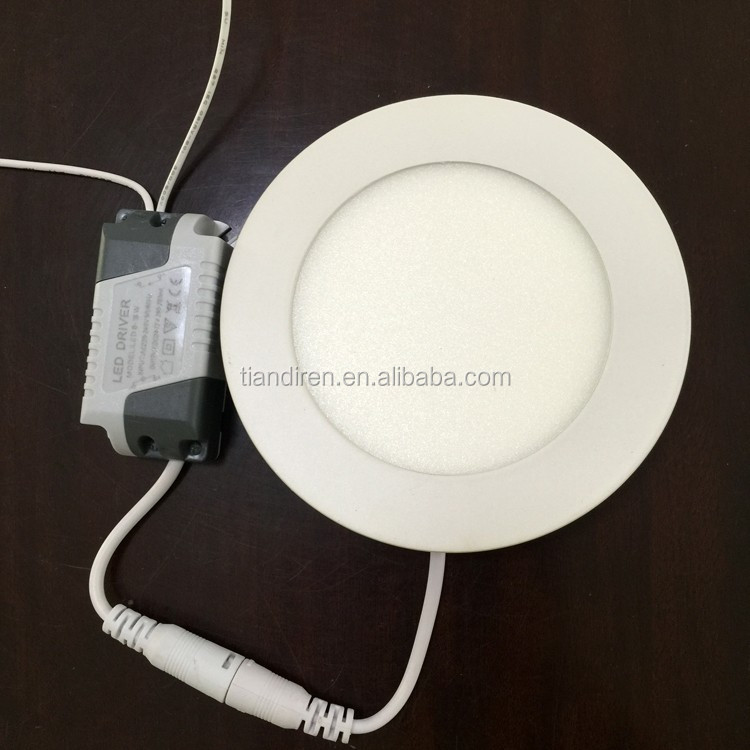 Ultra slim 6w 120mm diameter round 2835 SMD led recessed ceiling panel light