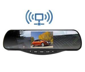 Wireless Backup Car Camera Rearview Mirror Monitor System