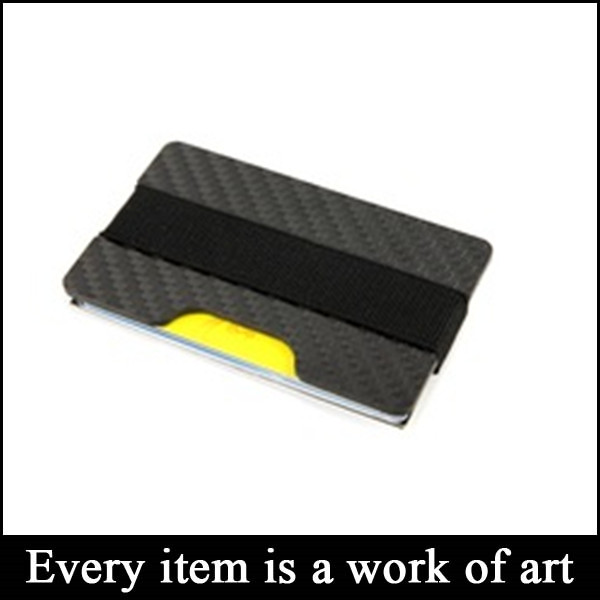 Wholesale Customized RFID Blocking Slim Carbon Fiber Card Holder <strong>Wallet</strong>