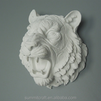 Resin Small White Tiger Head Wall