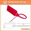 TX-PS215plastic logo seal lock plastic flex seal self locking seals