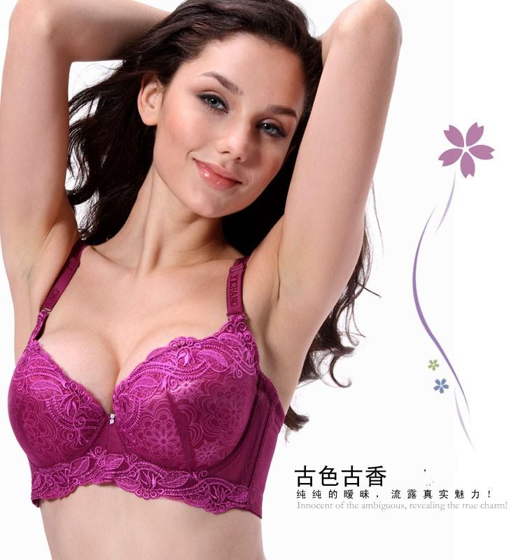 846736ea66d Wholesale-Sexy deep v lace brand plus size 34d 36c 36d 38c 38d 40c 40d bra  push up bras for women vintage brassiere underwear intimates