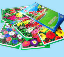 Customize Printed Flower Seed Packet by MOQ 5000pcs