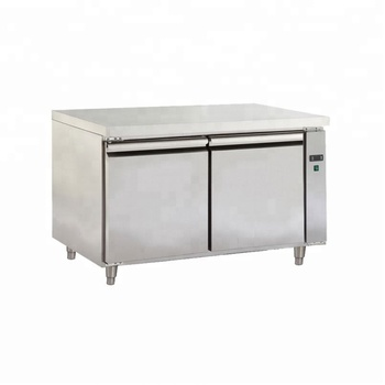 New Brands Industrial Double Door Under Counter Stainless Steel Commercial  Kitchen Fridge Freezer Refrigerator For Hotel