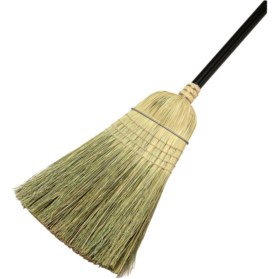 natural grass yard cleaning broom