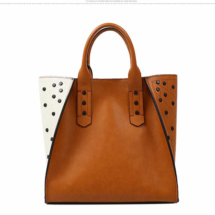 Ladies casual composite tote bags Fashion quality leather for women ladies handbag
