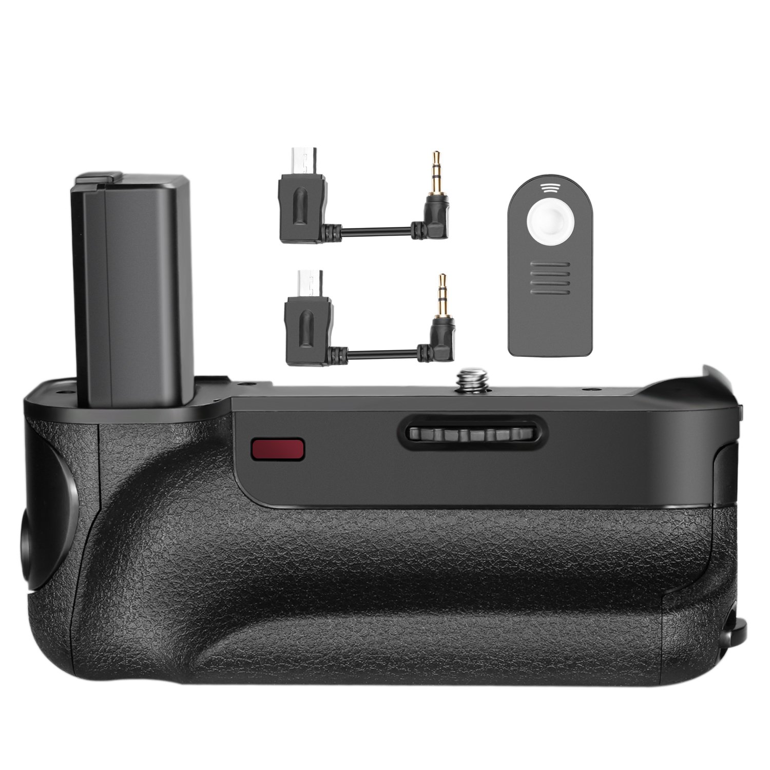 Neewer Pro Vertical Battery Grip Holder IR Infrared Remote Control for Sony A6000 and A6300 Mirrorless Camera, Work with 1 or 2 Pack NP-FW50 Li-ion Battery (Battery NOT Included)