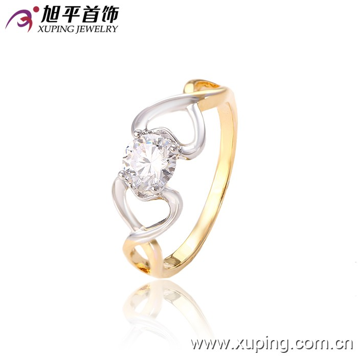 Wholesale latest gold finger design 6*6 mm fashion engagement ring
