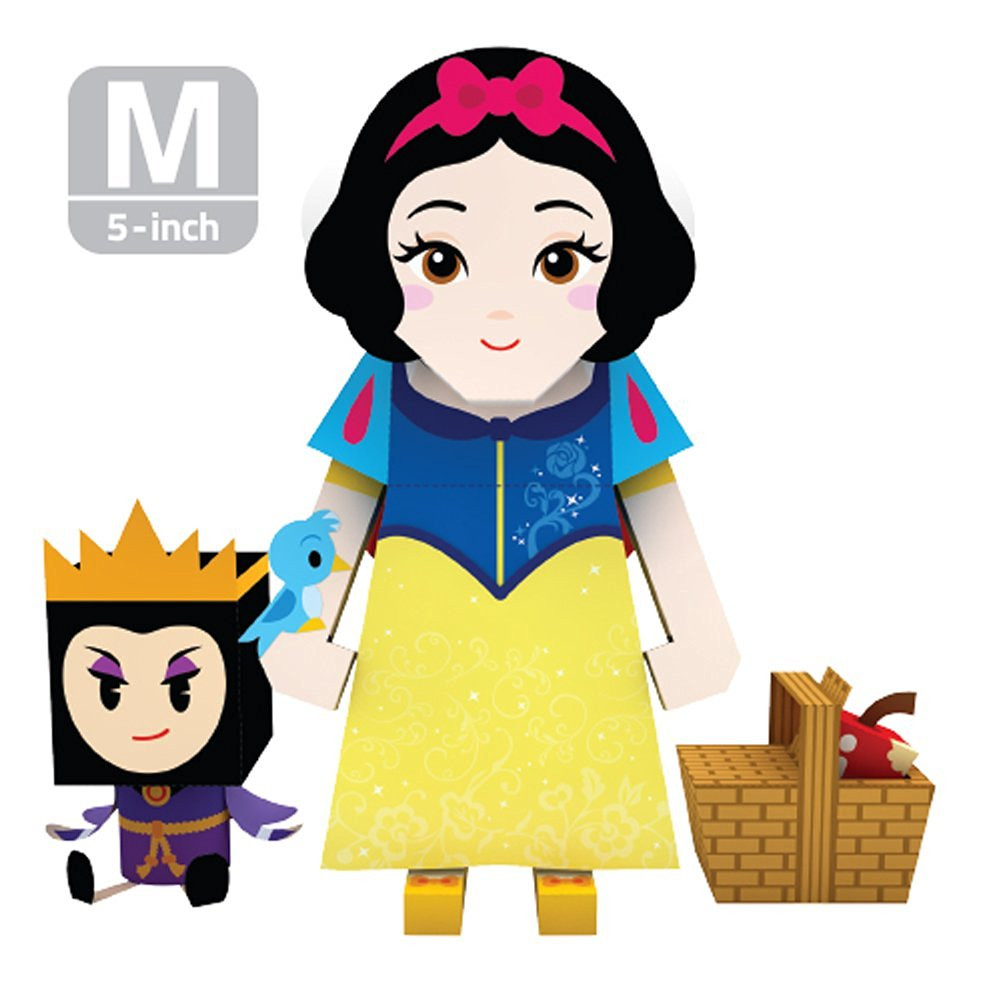 MOMOT Paper Craft Toy - Disney SNOW WHITE 5-inch (M Size 13cm)