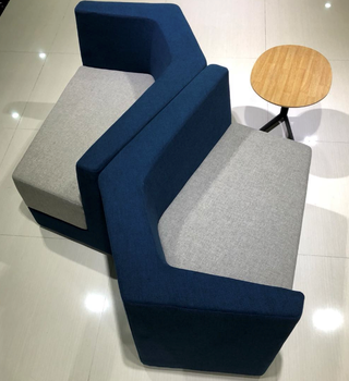 Modern Colorful Fabric Hotel Breakout Library Sofa Office Reception Commercial Use Sectional Sofas