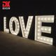 DK SIGN offer customized giant channel led letter sign lighting Mr Mrs led 4ft marquee sign letters for sale
