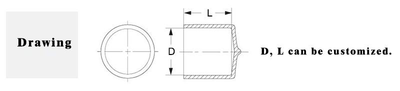 Customized Quality High Temperature resistance soft Vinyl Caps/orange Round end Cap