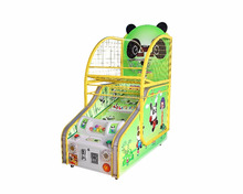 2017 hot sale panda kids basketball amusement prize tickets coin operated game machine