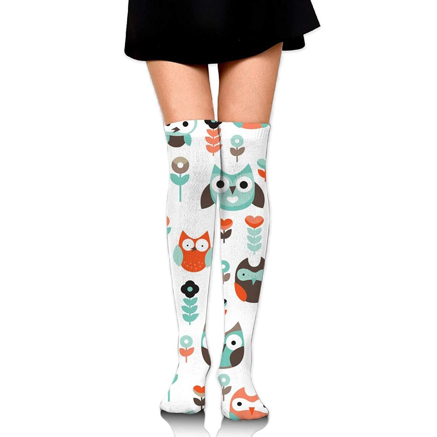 Zaqxsw Owl Bird Women Cool Thigh High Socks Thermal Socks For Girls