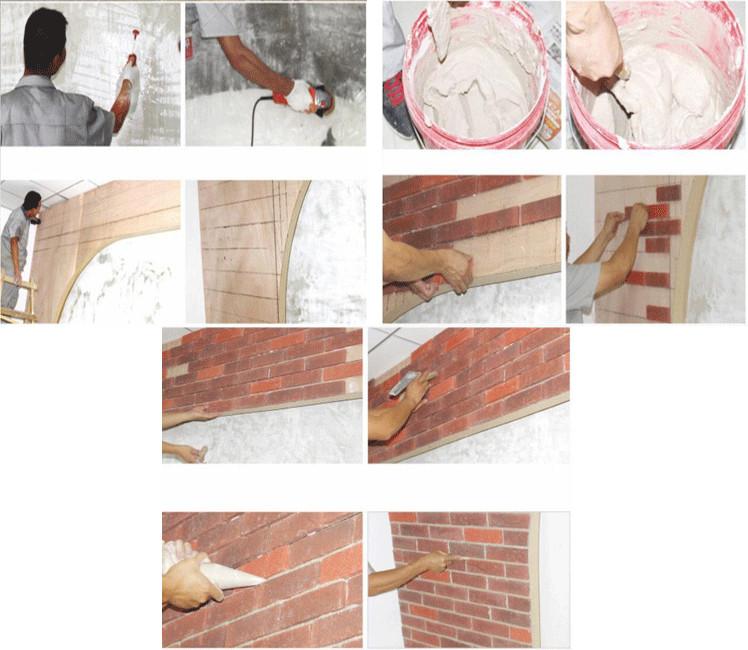 Fake brick wall veneer diy faux brick wall install.jpg