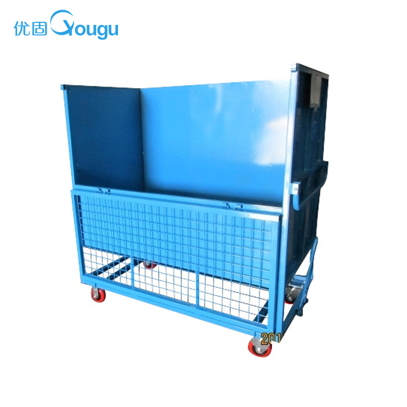 Customized foldable heavy duty storage boxes bins large stainless steel container metal storage cage container set factory