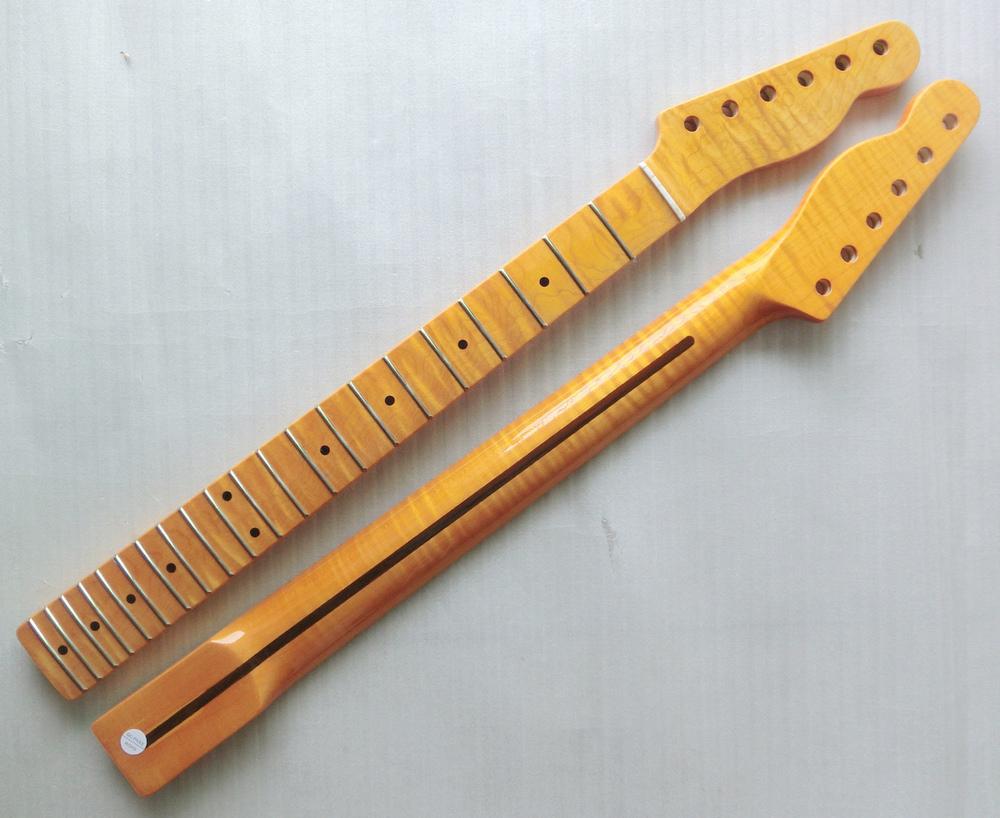 21 fret tiger flame canadian maple electric guitar neck wholesale guitar parts guitarra musical. Black Bedroom Furniture Sets. Home Design Ideas