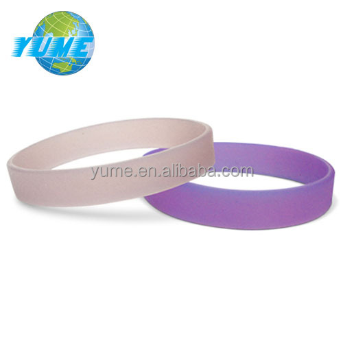 Fashion Jewelry Trend UV Tester Color Changing by Sunshine Grade Silicone Wristbands
