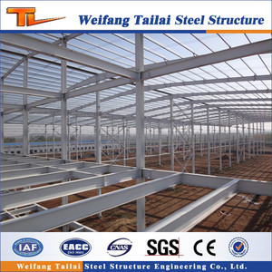 China low cost steel prefab house/workshop/warehouse