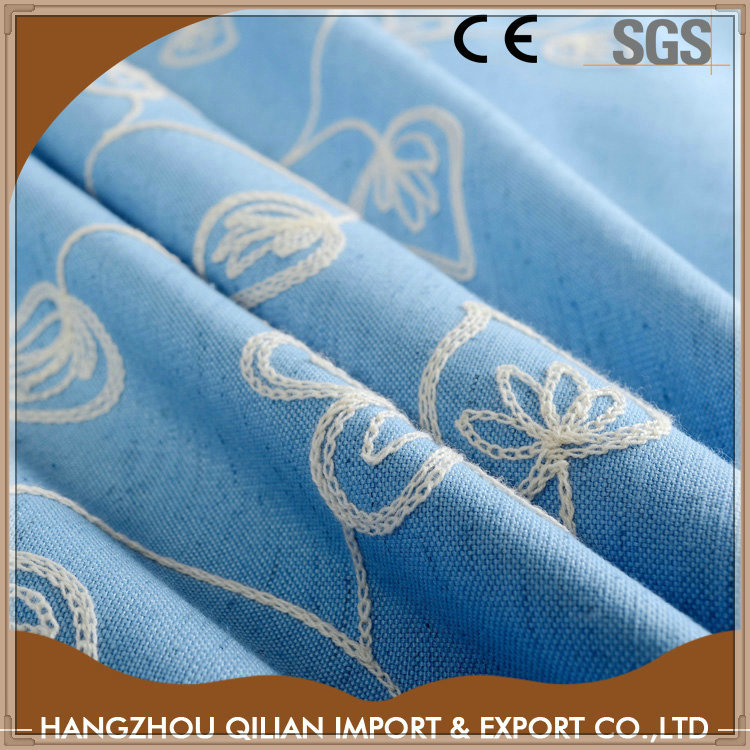 Professional cotton embroidery threads french doors curtains