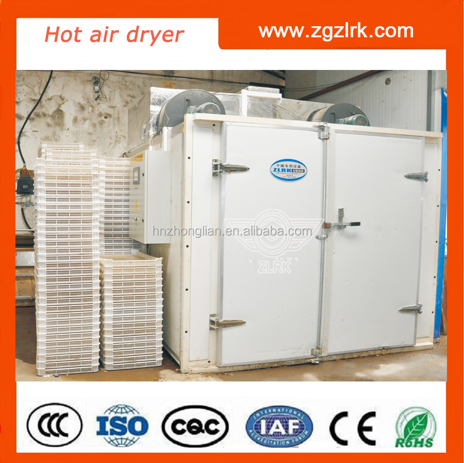 Professionele fruit slice hot air droger elektrische verwarming dehydrator/droger/droogmachine