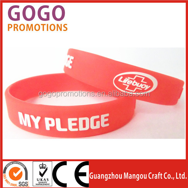 Customized Silicone wristband For Promotion Gift, new custom logo size design cheap promotional items silicon wristband