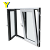 YY construction Aluminium Tilt and Turn Windows Two Open Way with Energy Efficient Glass