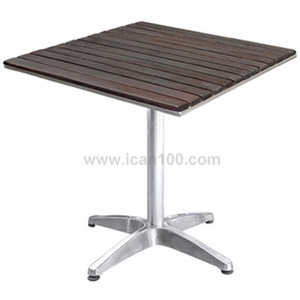 Metal base wooden top square 60cm 80cm dining tables(DT-06270S4)