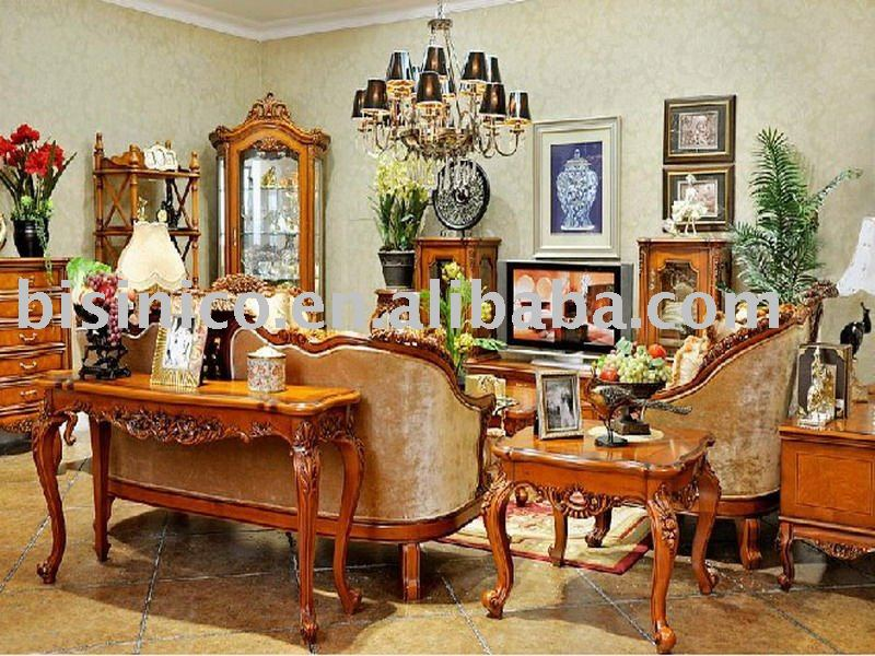 Antique european style luxury living room furniture set. bedroom furniture.  dining room furniture set. Study sets. Item B47157, View luxury solid wood  ... - Antique European Style Luxury Living Room Furniture Set. Bedroom