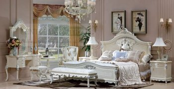 Classical High Quality Bedroom Set CW301 (bed, 2 Night Stands, Dresser With  Mirror