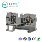 UTL Gray 2 Way Spring Terminal Block Connector 5.0-10mm Spacing As Terminator And Wire Connector For Electronics