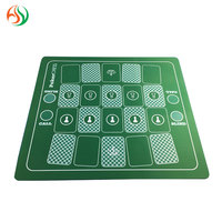 AY Casino Style Poker Gaming Mat Blackjack layout Table Felt Best Playing Card Trade Assurance Green Rubber Poker Mats