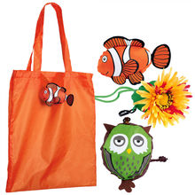 BSCI long handle shopping tote bag polyester foldable bag