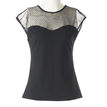 Ladies Sexy Black Lace top, large size women leisure hot models